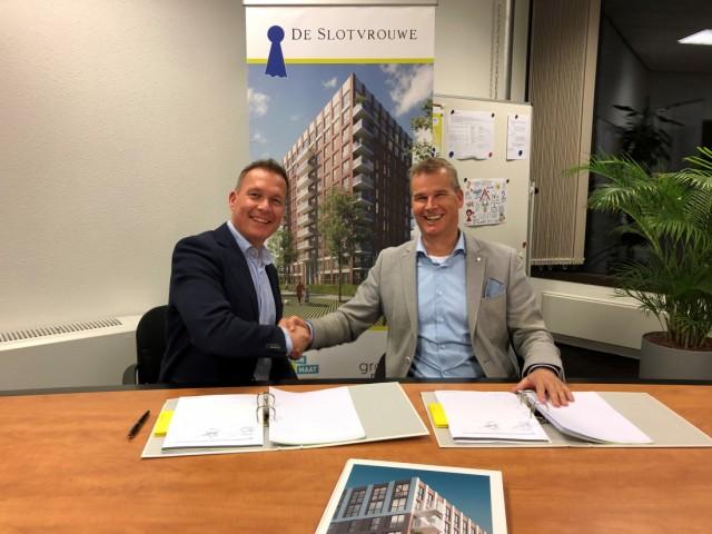Woonopmaat en ERA Contour ondertekenen realisatieovereenkomst voor De Slotvrouwe