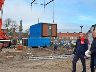 Wisselwoningen in de Bilderdijkstraat in Heemskerk geplaatst